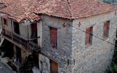 "The typical folk house of Lagadia (""makrinari"")"